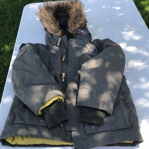 Woolrich Forest Green Winter Down Jacket